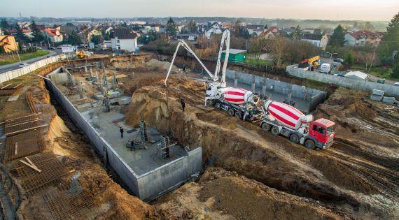 Przedświąteczne betonowanie Apartamenty Sienkiewicza